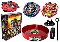 Набор в Подарочной Коробке Арена твердая + Бейблейд Карающий Джокер Бейблейд (Kill Joker Judgment) с пусковым устройством + Starter Revive Phoenix