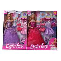 Кукла DEFA с нарядом 29см, платья 8шт, обувь, аксессуары, 2 вида, 8266