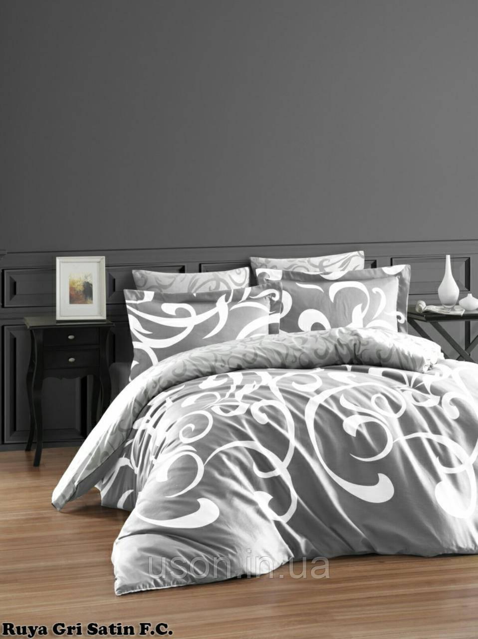 Комплект постельного белья Тм First Choice сатин Ruya Gri