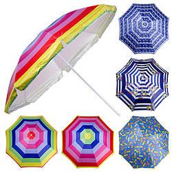 Зонт пляжный серебро D2.4м, МН-0041