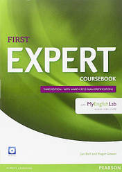 Expert First 3rd Edition Coursebook with Audio CD and MyEnglishLab Pack