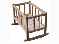 Кроватка для кукол дерево 25*45*35, 172016КРОВСМЕРЕКА