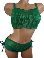 Купальник с майкой на большую грудь и узкие бедраSisianna 3916 зеленый 44 46 48 50 52 размер