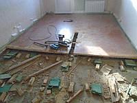 Демонтаж и уборка старых покрытий
