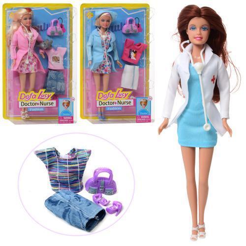 Кукла с нарядом DEFA 29см, наряд, сумочка, 8403-BF