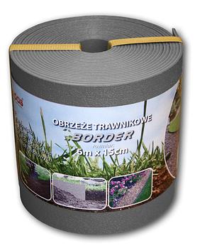 Бордюр газонный прямой, BORDER, 6м х 15см х 2.8мм, серый, OBPGY06150 Bradas лидер на рынке ЕС