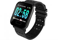 Фитнес-браслет часы A6, черный