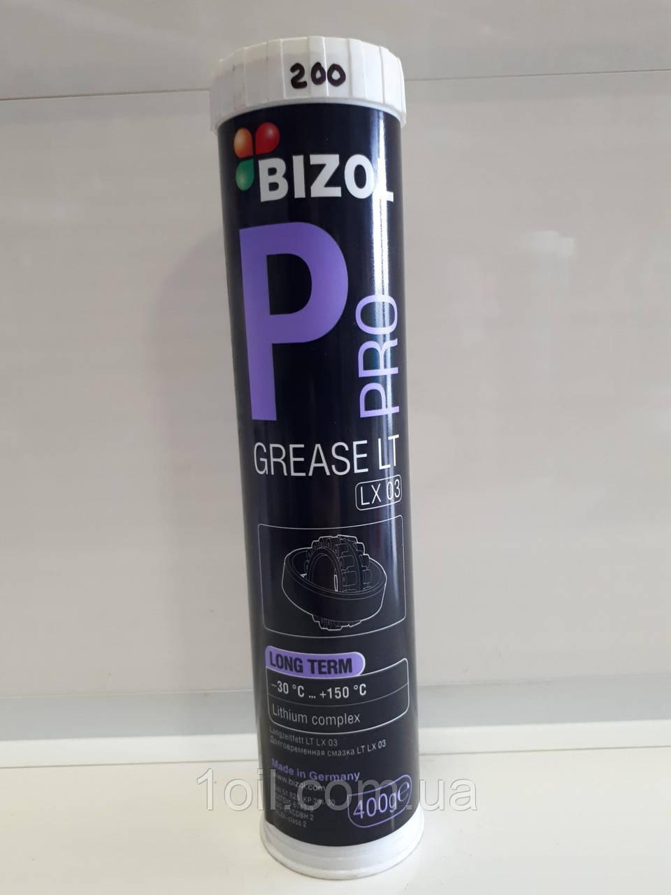 Смазка для подшипников качения и скольжения при высочайших нагрузках BIZOL Pro Grease LT LX 03 Long Term) 0,4 л