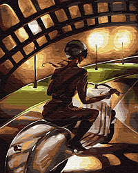 Картина рисование по номерам Малишка на драйве 40х50см GX29722 набор для росписи, краски, кисти, холст