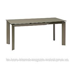Стол раскладной Vermont Matt Latte (Вермонт Мет Латте) 120-170см, серый, стекло, Concepto