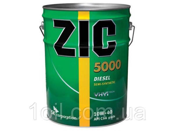 Масло моторное Zic X7 Diesel (ранее было 5000 и RV) 10W-40 20л