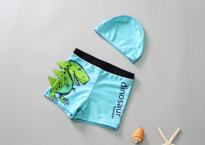 Комплект для плавания шорты и шапочка, Дино