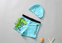 Комплект для плавания шорты и шапочка, Дино, фото 1