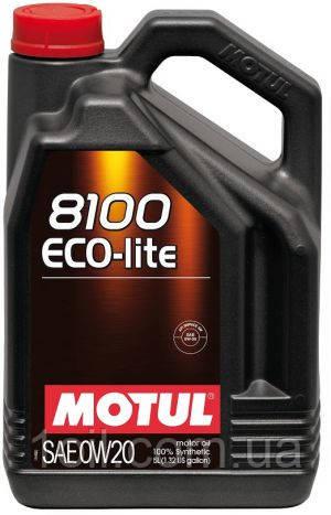 Масло моторное MOTUL 8100 Eco-lite 0W-20 5L