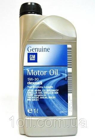 Масло моторное General Motors  (Opel, GM) 5w-30 1л