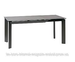 Стол раскладной Vermont Matt Grey (Вермонт Мет Грей) 120-170см, серый, стекло, Concepto