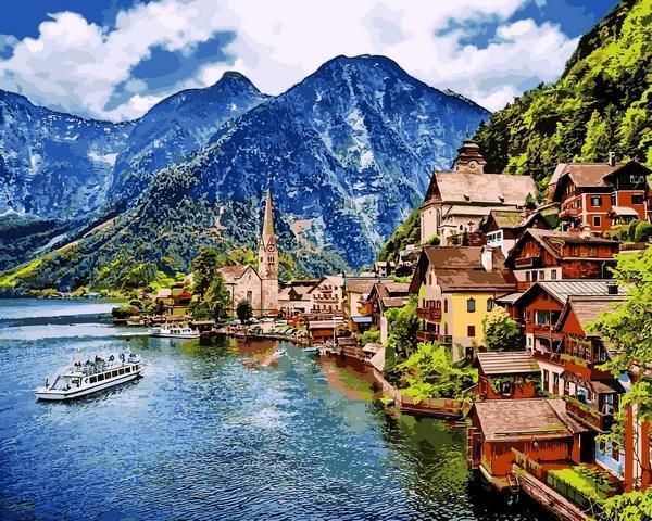 Картина по номерам Гальштат Австрия 50х65см Babylon VPS1087 Пейзаж природа