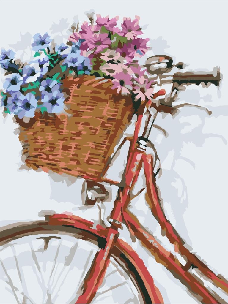 Картина по номерам Идейка КНО2022 Цветочная прогулка 30х40см ідейка картины Цветы, фрукты, натюрморты, еда