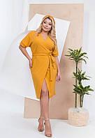 Элегантное деловое платье миди 59423 (42–62р) в расцветках