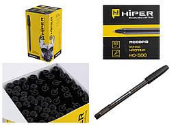 """Ручка масляная """"Hiper Accord"""", черная, HO-500чор"""
