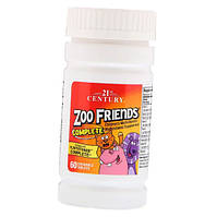 Мультивитамы жевательные Zoo Friends Complete 21st Century 60 tab