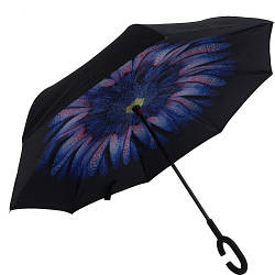 Зонт обратного сложения, d=110см, 8 спиц, MH-2713-1