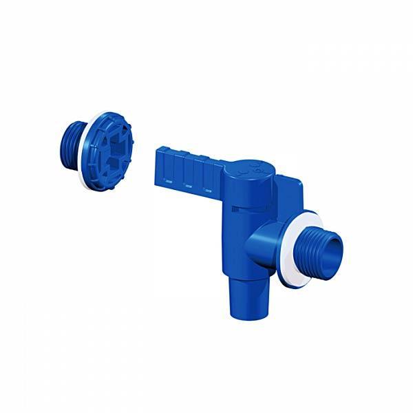 Пластиковый кран с заглушкой и уплотнением для канистры, 1/2, KTZA01 Bradas лидер на рынке ЕС