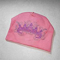 Детская шапка для девочки весна осень 4-9 месяцев размер 42-44