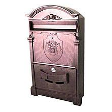 Почтовый ящик - герб Англии (коричневый) Пластик   VTR (Украина) PO-0015