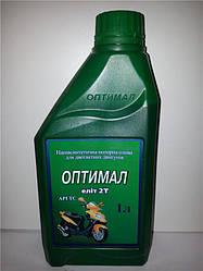 Масло моторное Оптимал полусинтетика 2т 1L
