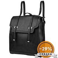 Сумка-рюкзак Valiria Fashion Женский рюкзак из кожезаменителя Черный