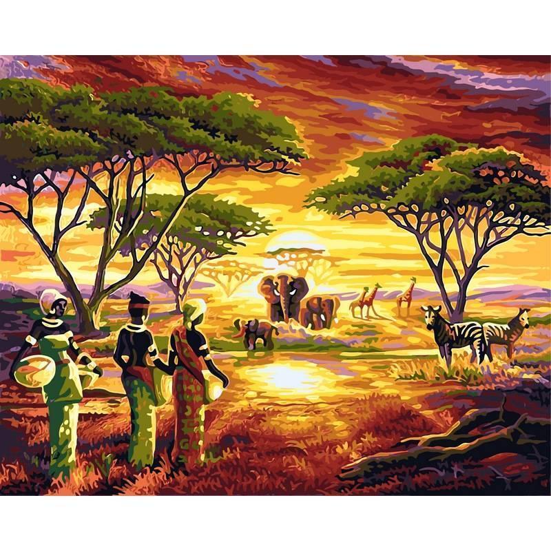 Картина рисование по номерам Babylon Африка 40х50см VP417 набор для росписи, краски, кисти, холст