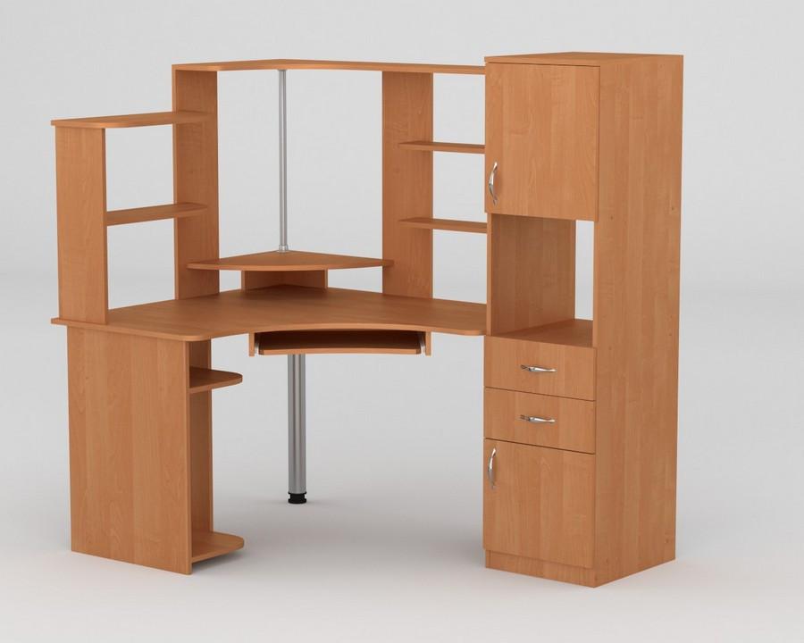 Компьютерный стол с полками СУ - 12