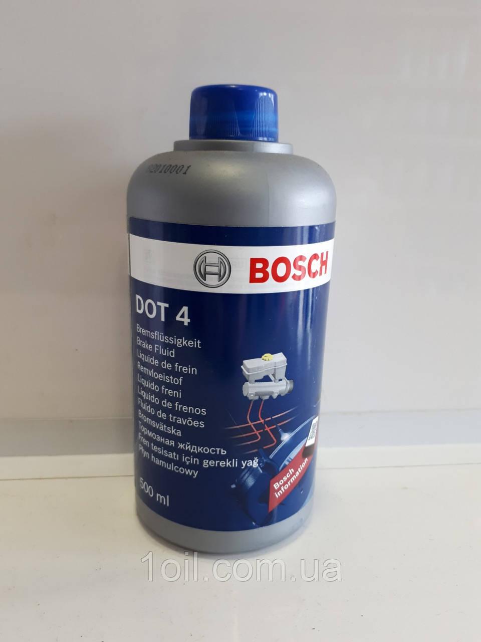 Гальмівна рідина Bosh DOT-4 0,5 л