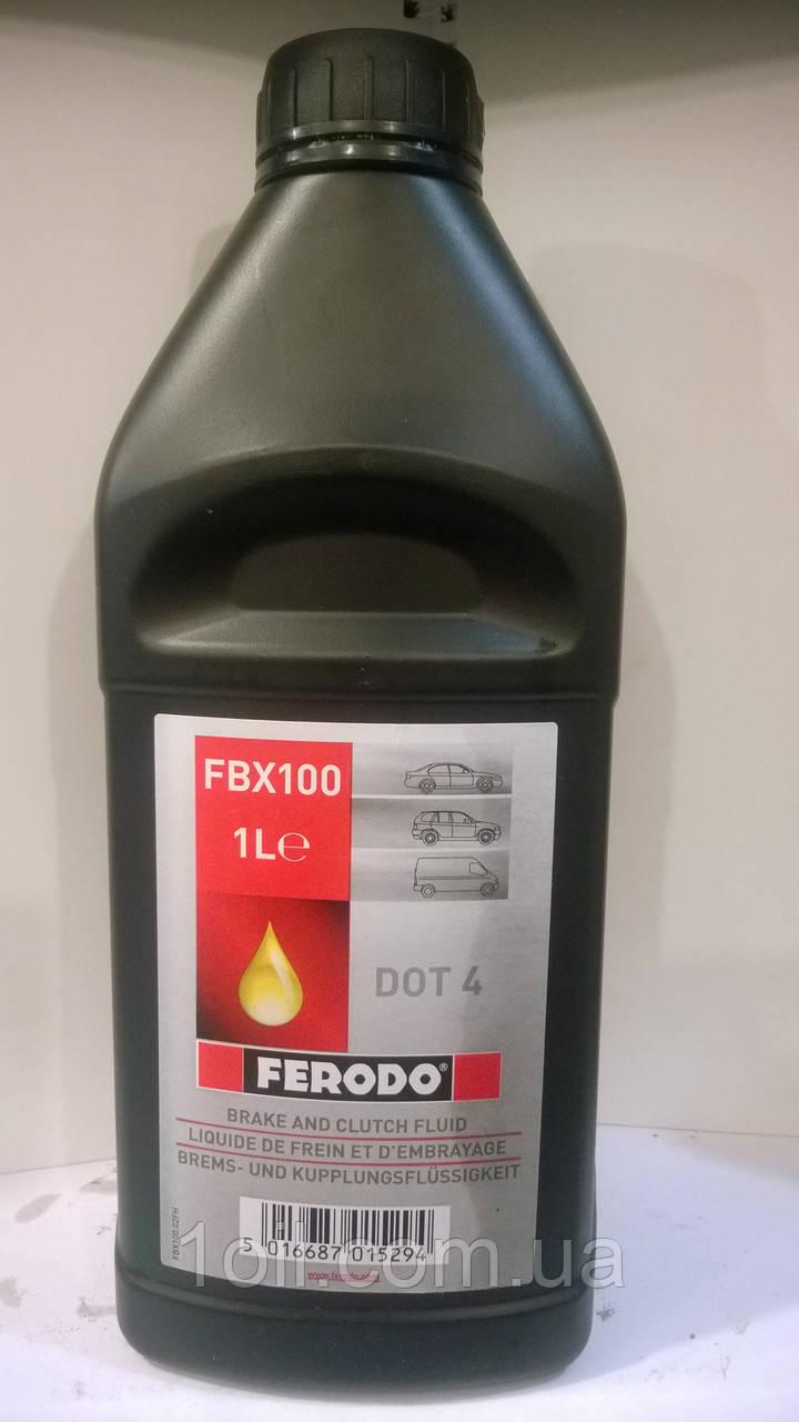 Тормозная жидкость  DOT-4   FERODO     1л