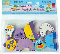 """Дитячі аква-пазли BabyGreat """"Кумедні тваринки"""", 4 іграшки, GB-FM4D"""