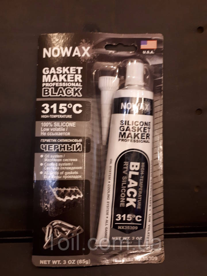 Герметик чорний Novax NX 34309 +315C 85гр