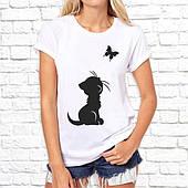 Футболка женская с рисунком. Печать на футболке