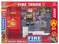 Конструктор Space Baby Fire truck фигурка с авто и аксессуары 3 вида