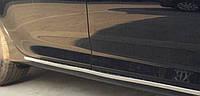 Toyota Сamry V55 2015+ хром накладки на пороги внешние