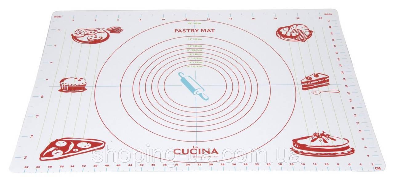 Пластиковый коврик для раскатывания теста 45 х 65 см 431127