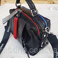 Женская кожаная сумка трансформер на два отделения Polina & Eiterou, фото 7