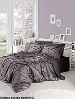 Комплект постельного белья сатин First Choice Calisto Leylak Семейный