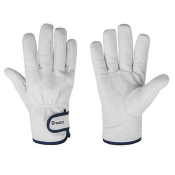 Защитные перчатки из козьей кожи со светлой подкладкой, WHITEBIRD TERMO, RWWBT95 Bradas лидер на рынке ЕС