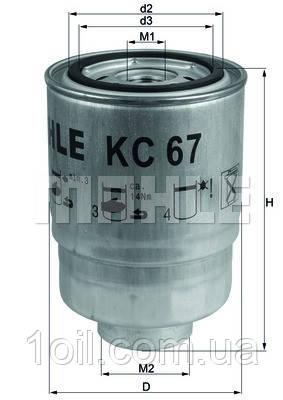 Фільтр паливний KNECHT KC67