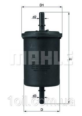 Фильтр топливный KNECHT KL416/1 (KL72)