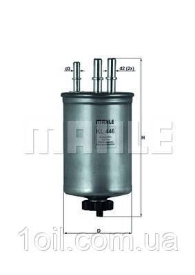 Фильтр топливный KNECHT KL446