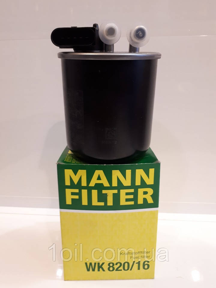 Фильтр топливный Mann WK820/16 (с датчиком) (аналог KL914)