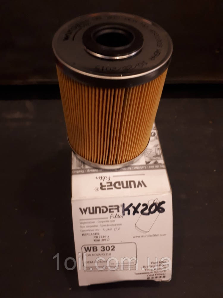 Фильтр топливный      WUNDER    WB-302 (аналог  KX206)