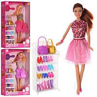 Кукла DEFA, обувь, сумочка, расческа, 3 вида, 8316